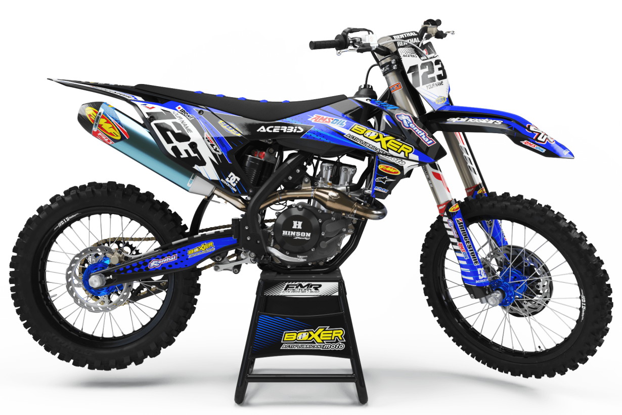 Graphics Kit BOXER BLUE : Add value to your Motocross and Quad