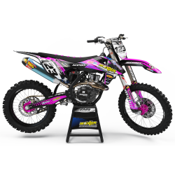 Graphics Kit BOXER PINK : Add value to your Motocross and Quad