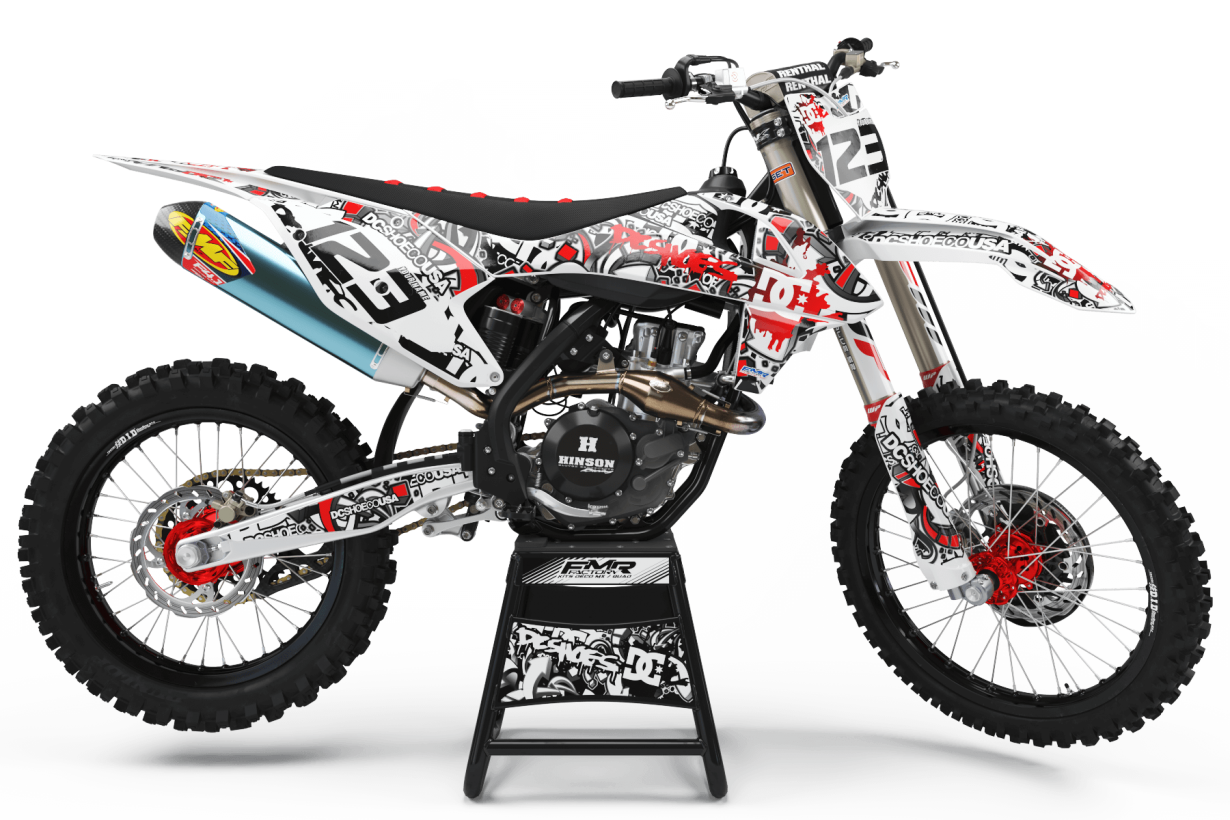 Graphics Kits DC B&W RED : Ultra shock-resistant graphics