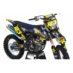 Graphics Kit ROCKSTAR ENERGY BLUE : Give a new youth to your bike