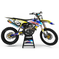 Graphics Kit LUCAS OIL YELLOW : The best kit for your bike