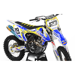 Graphics Kit FMR FACTORY YELLOW : Stunning design for your Motocross